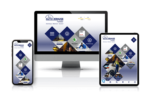 auto krause webseite responsiv mobil tablet